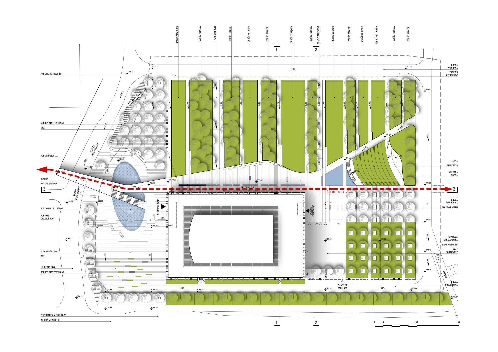A plan of the NPRSO's building area