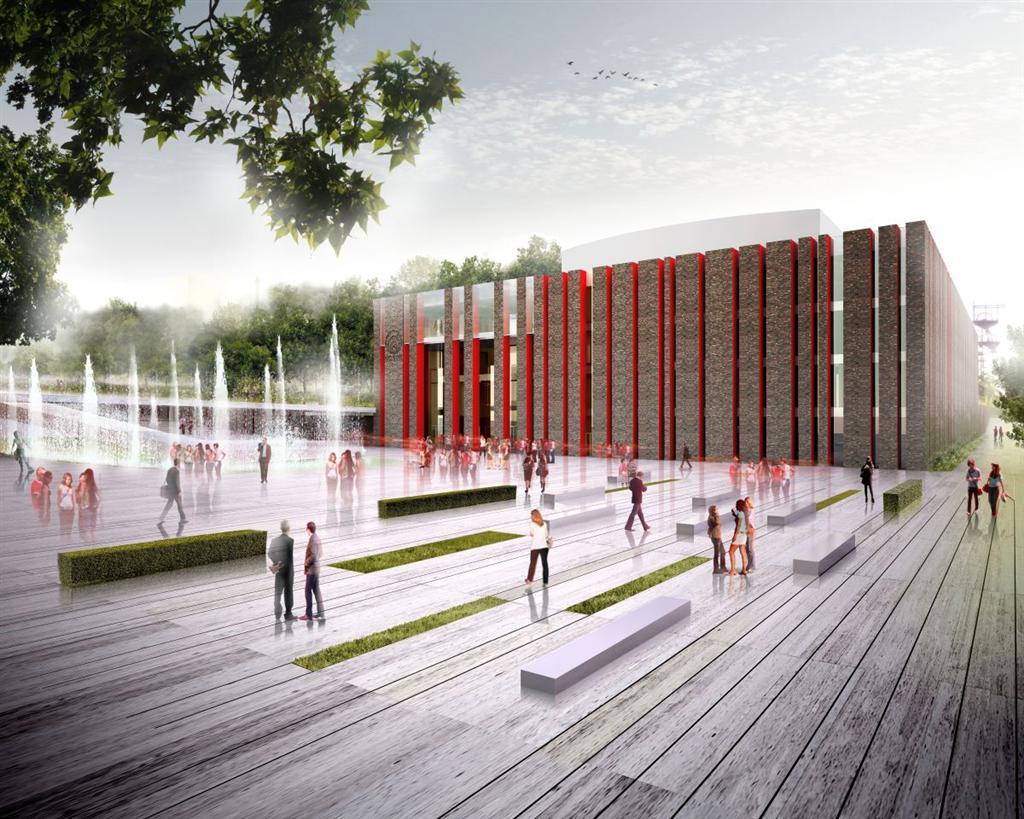 © City Hall of Katowice; new building of the National Polish Radio Symphony Orchestra in Katowice