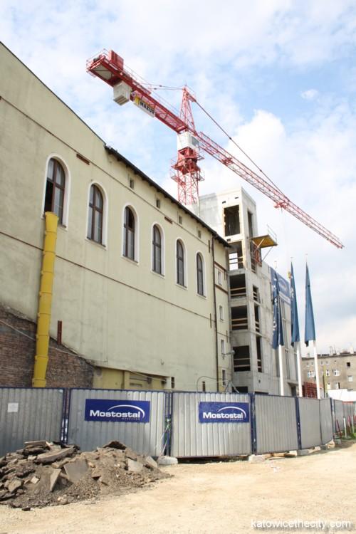 Construction work on the Silesian Philharmonic