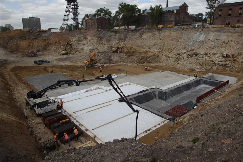 Construction work on the new seat of the Silesian Museum