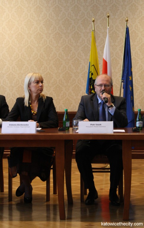 Elżbieta Bieńskowska, Ministry of Regional Development, and Piotr Uszok, Katowice Mayor