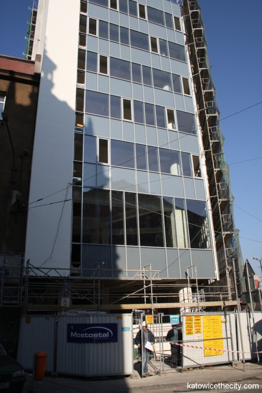 Construction work on the redevelopment on the former Press House