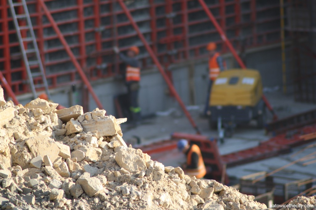 Construction work on the main building of the new Silesian Museum's seat