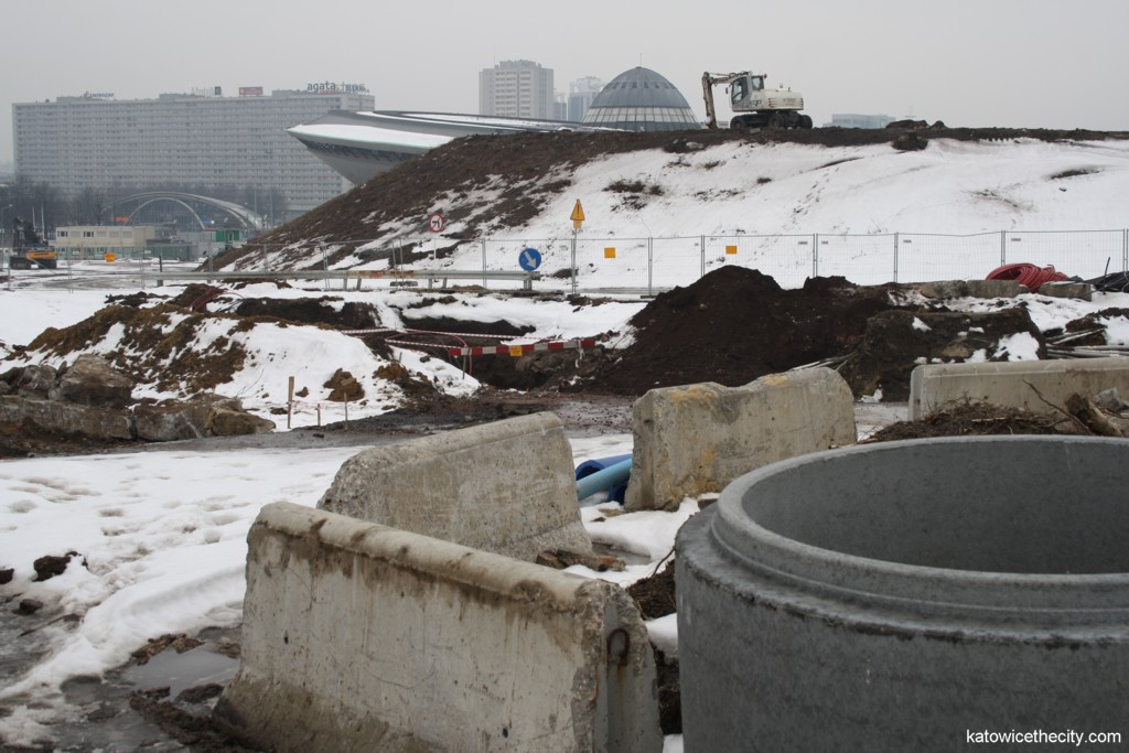 Mine waste dump at the construction site of the International Convention Center