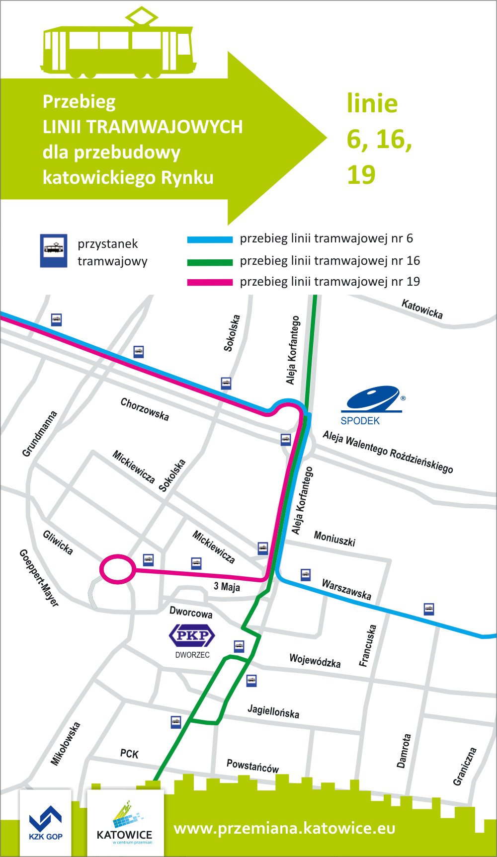 Traffic changes during the first stage of the City Center redevelopment