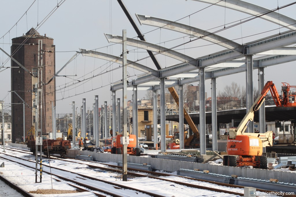 Works on the platform 2 of the Railway Station