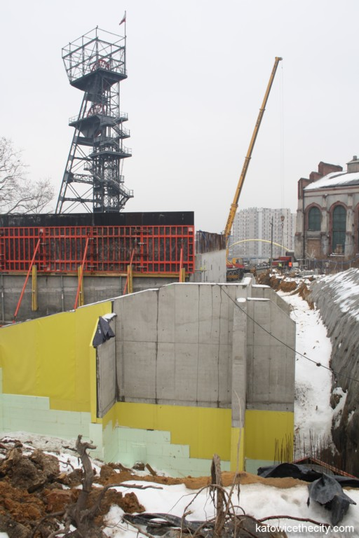 Works on the central hall of Silesian Museum