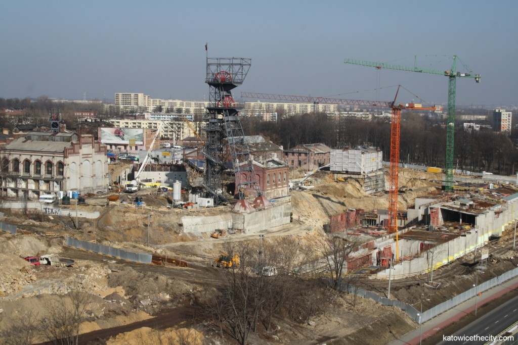 Works on the Silesian Museum, view from south-west