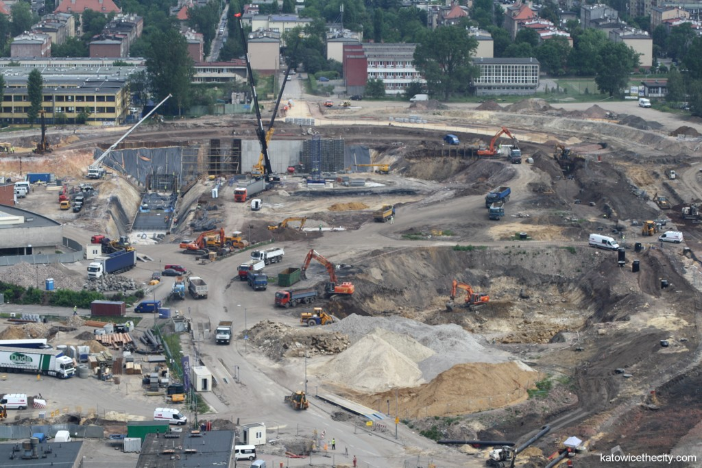 Works on the Interational Convention Center