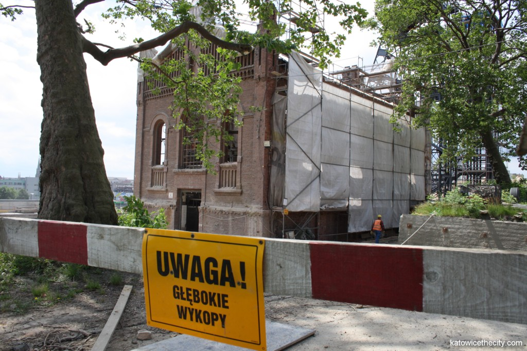 Works on the Silesian Museum's new seat, future restaurant