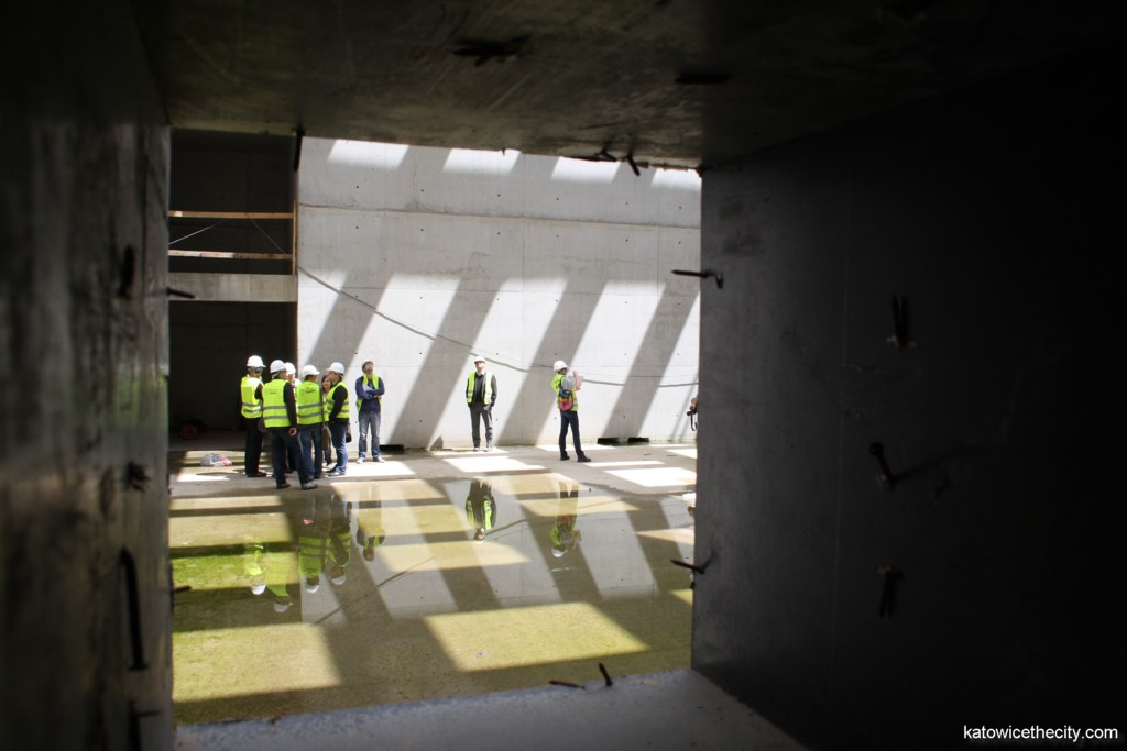 """Works on the Silesian Museum's new seat, """"central hall"""""""