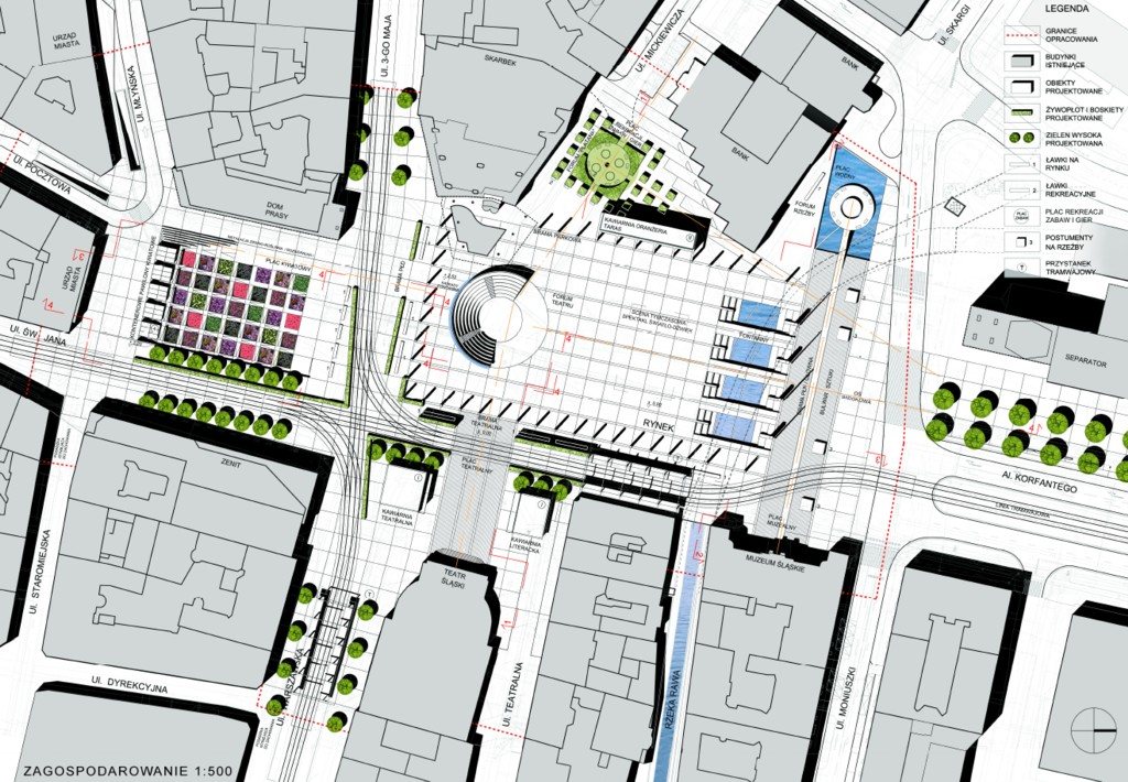 © AiR Jurkowscy, honorable mention in the architectural competition for the new Market Sq.