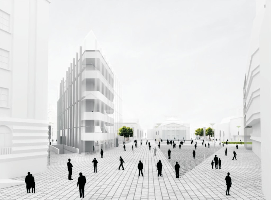 © Biuro Projektów Architektonicznych, honorable mention in the architectural competition for the new Market Sq.