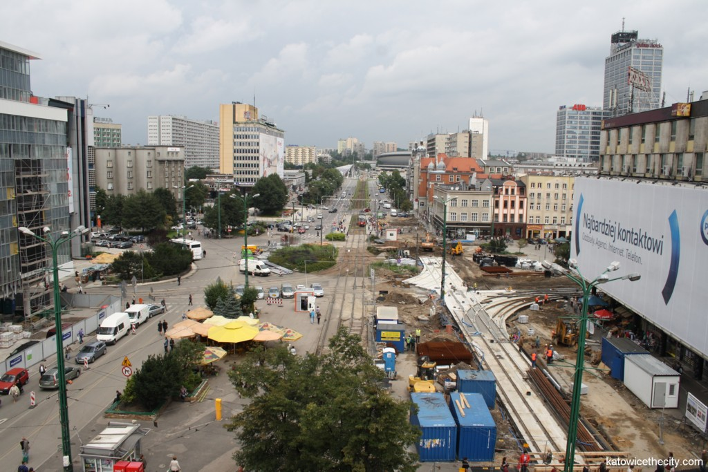 The Market Square – Roundabout area in the downtown of Katowice