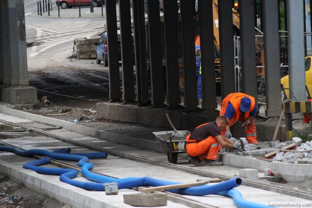 Works on Kochanowskiego St. under the railway overbridge