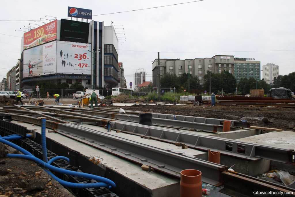 Works on the junction of the Market Sq. and Warszawska St.
