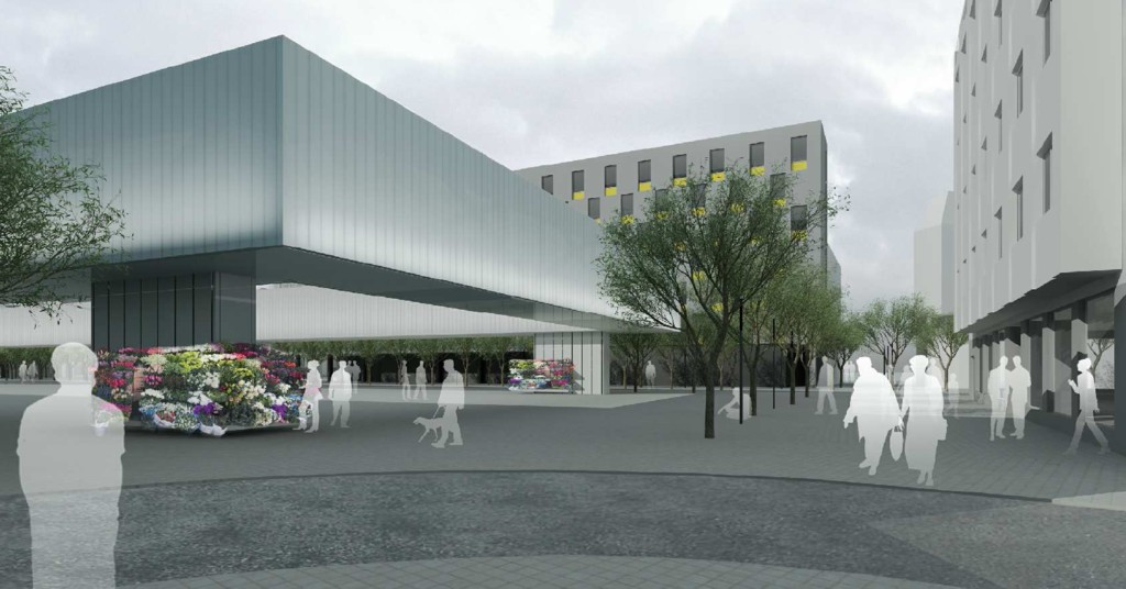© Riegler Riewe Architekten, honorable mention in the architectural competition for the new Market Sq.