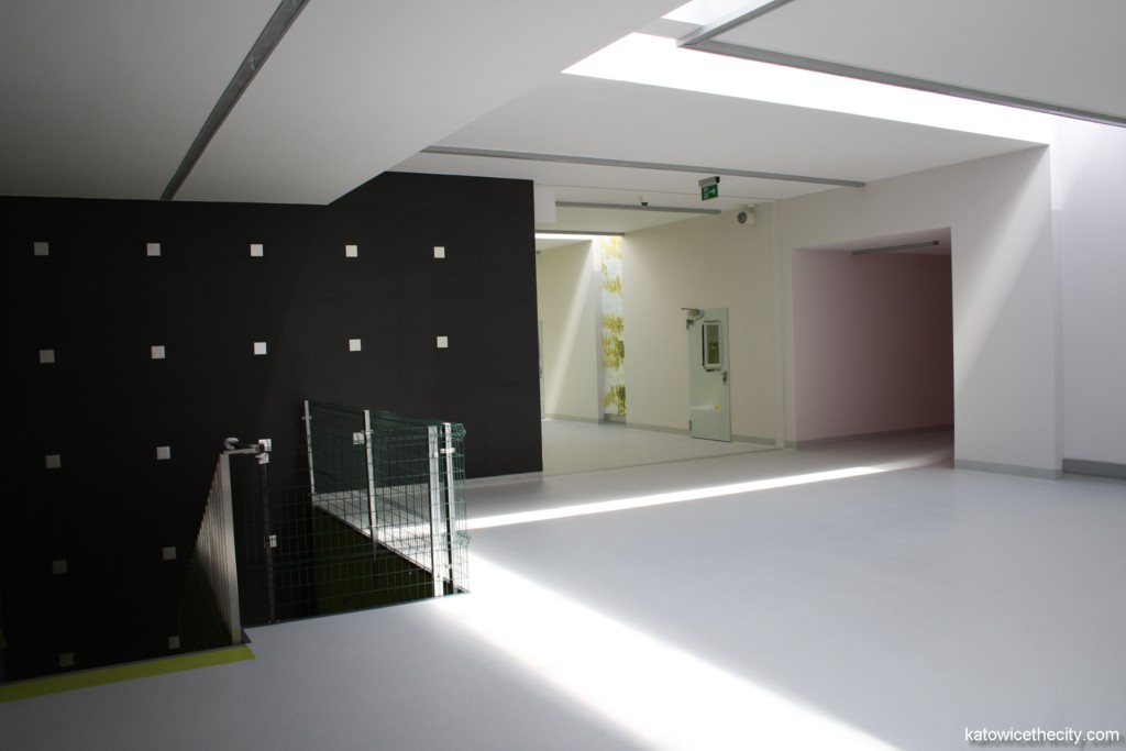 Interior of the gym hall's building