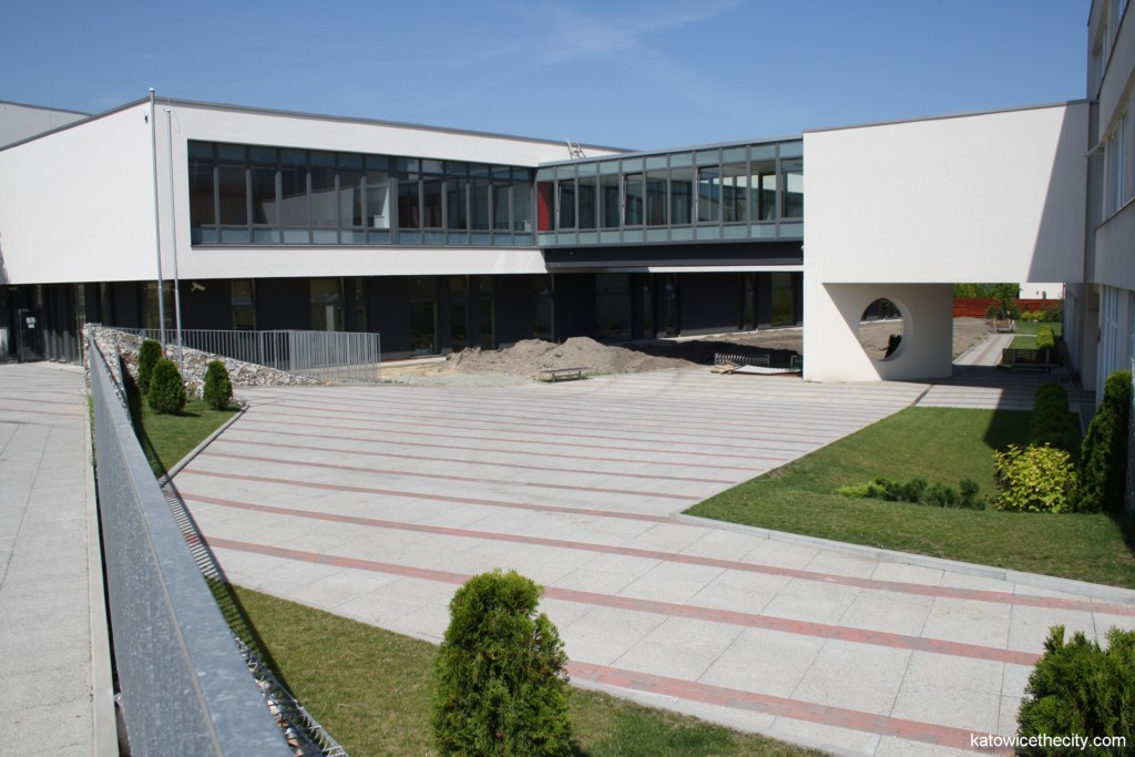Gym hall's building, kindergarten on the ground floor