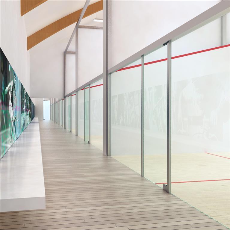 © Millenium Inwestycje; Visualisation of the squash hall