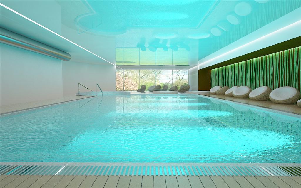 © Millenium Inwestycje; Visualisation of the swimming pool