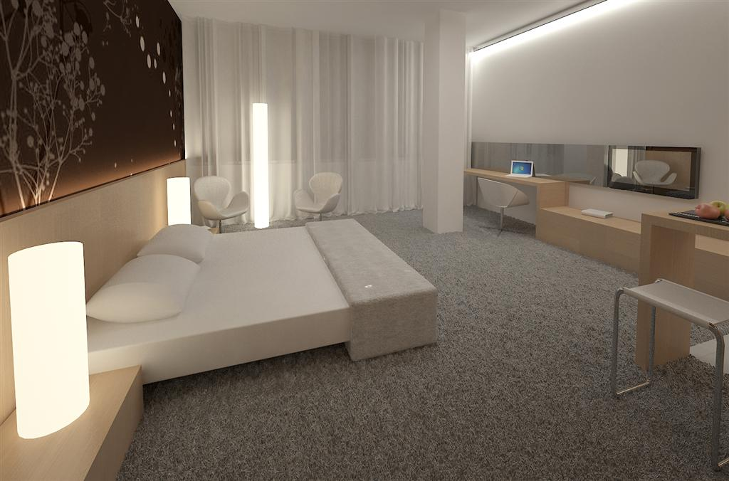 © Millenium Inwestycje; Visualisation of the apartment room in the hotel