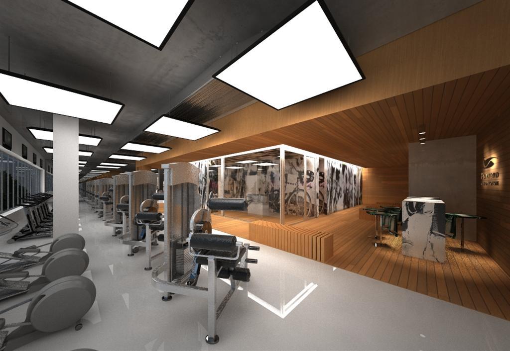 © Millenium Inwestycje; Visualisation of the fitness club