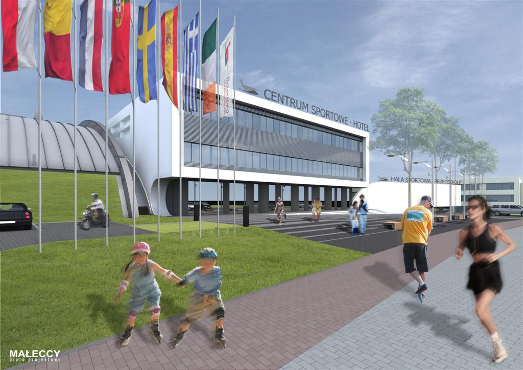 © Millenium Inwestycje; Visualisation of the sport center