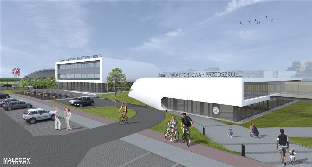 © Millenium Inwestycje; Visualisation of the sport center