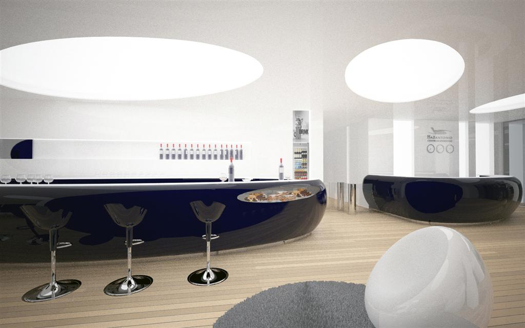 © Millenium Inwestycje; Visualisation of the reception desk