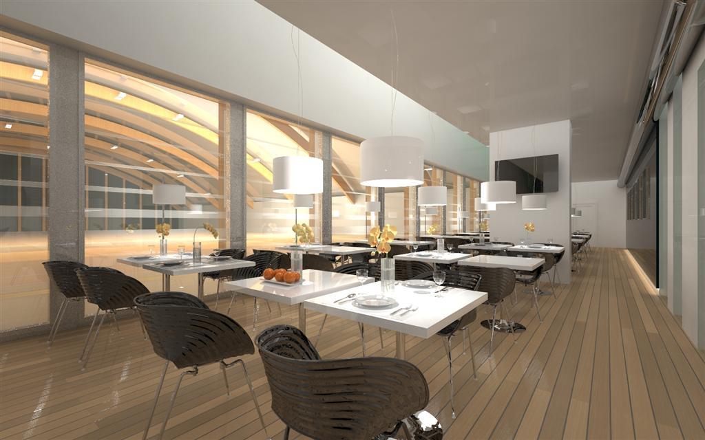© Millenium Inwestycje; Visualisation of the restaurant