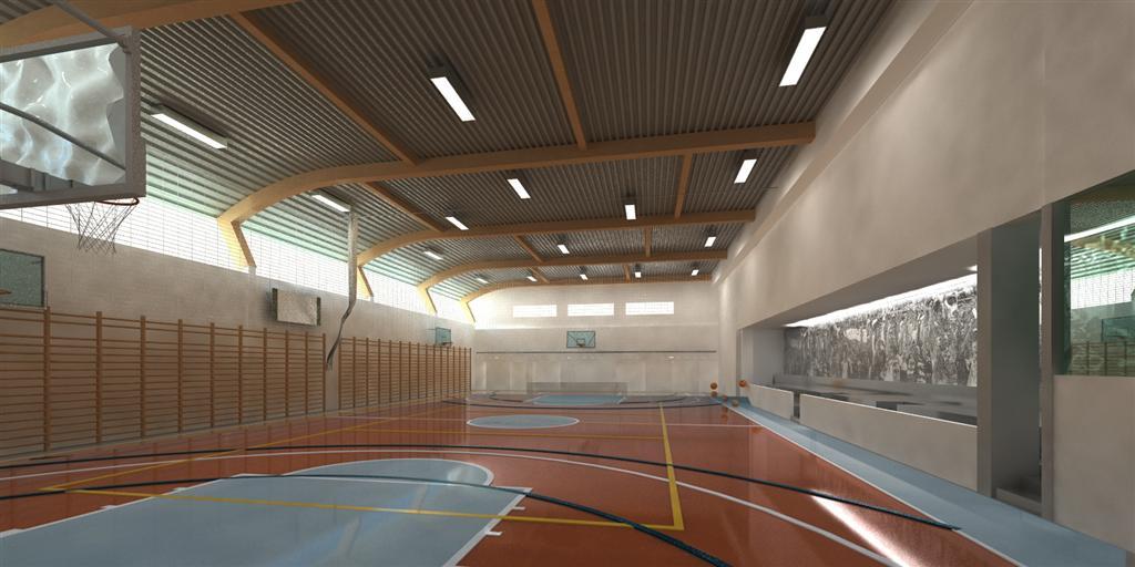 © Millenium Inwestycje; Visualisation of the gym hall