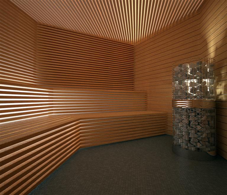 © Millenium Inwestycje; Visualisation of the sweat room