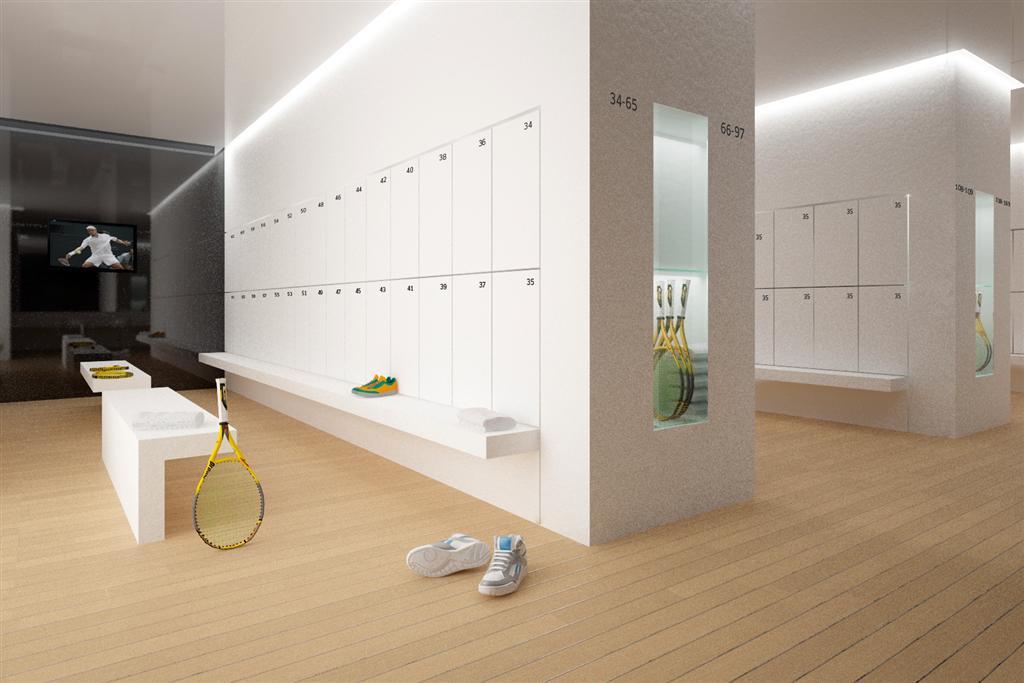 © Millenium Inwestycje; Visualisation of the changing room