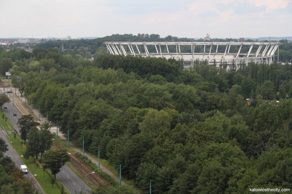 The Silesian stadium and the Silesian Park