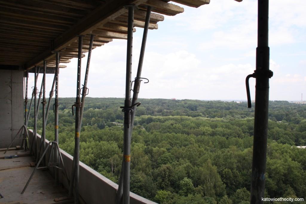 Top floor view, the Silesian Park