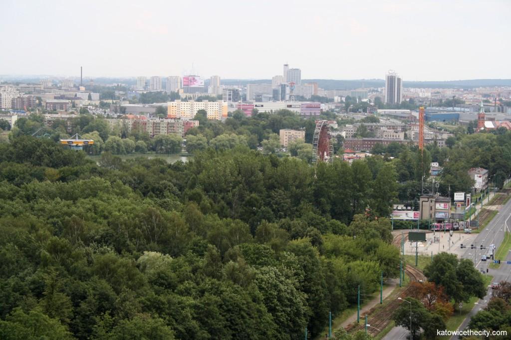 Top floor view, the center of Katowice
