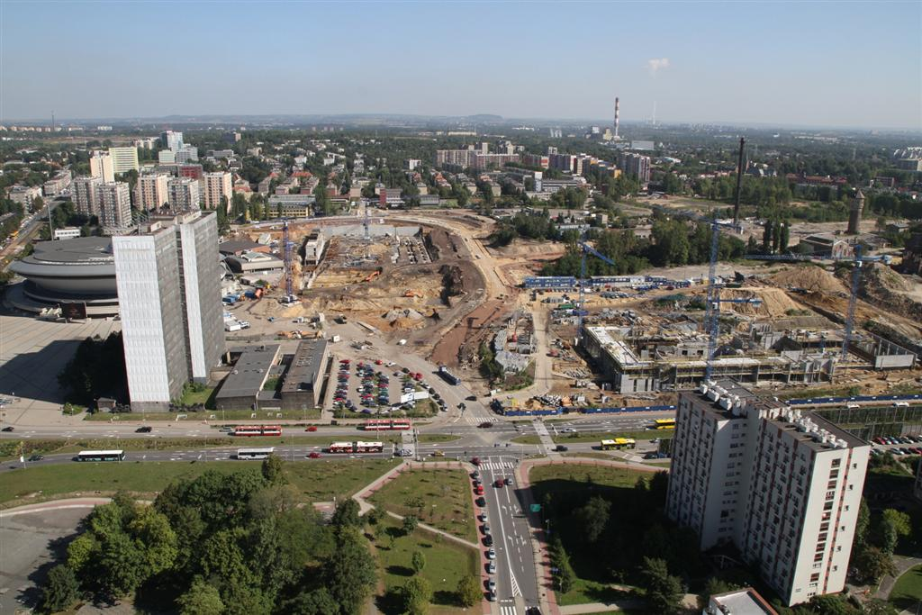 Works on the International Convention Center and on the new seat of National Polish Radio Sypmhony Orchestra, photo by Sławomir Rybok