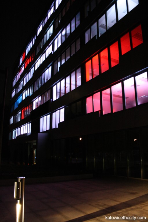 Music and light show during the great opening of the Goeppert-Mayer building