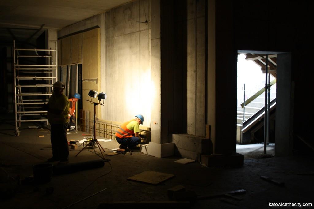Works on the underground storey