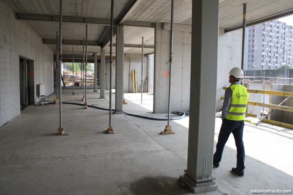 Steel construction of the building