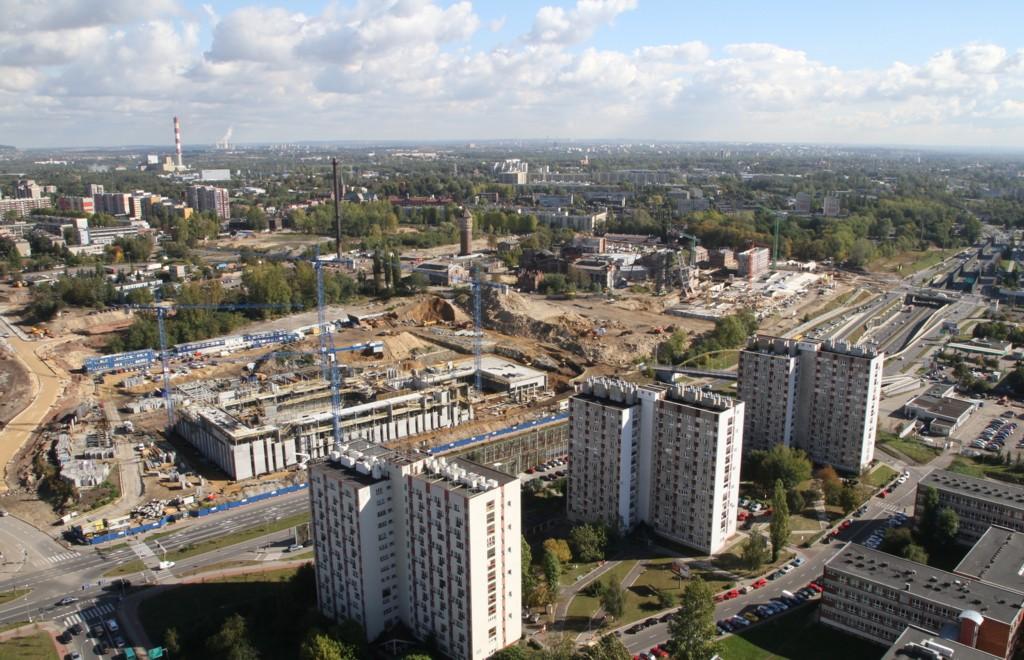 Construcion work on the National Polish Radio Symphony Orchestra's new seat
