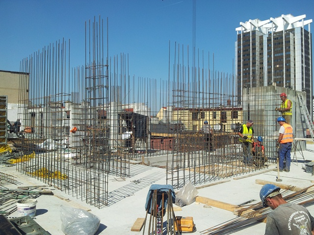 © Grupa Inwest; works on the mixed-use building on Opolska St.