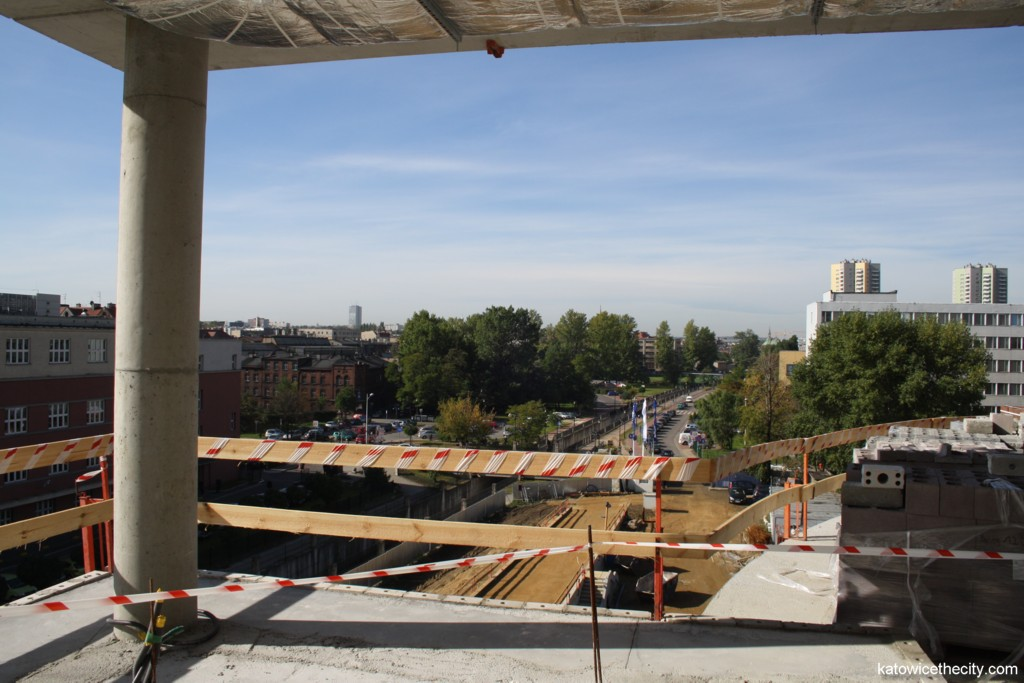Advanced Information Technology Center under construction, view from the auditorium hall