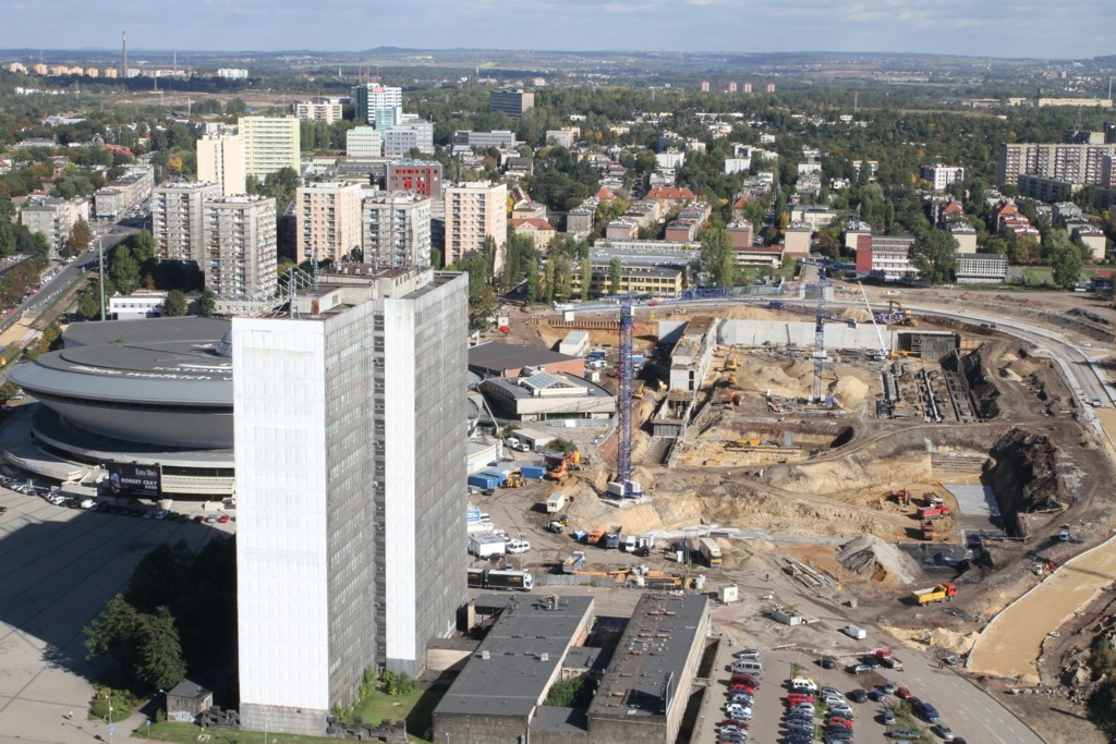 The construction site of the International Convention Center on 28th of September 2012, photo by Sławomir Rybok