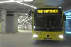 Underground bus station in Katowice