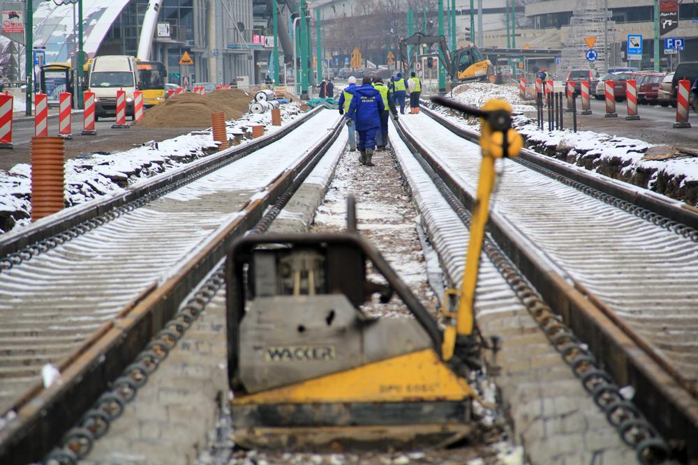 © ImagoPR; Korfantego Av. and the works on the tram tracks