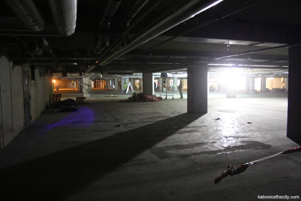 Underground car park of Galeria Katowicka