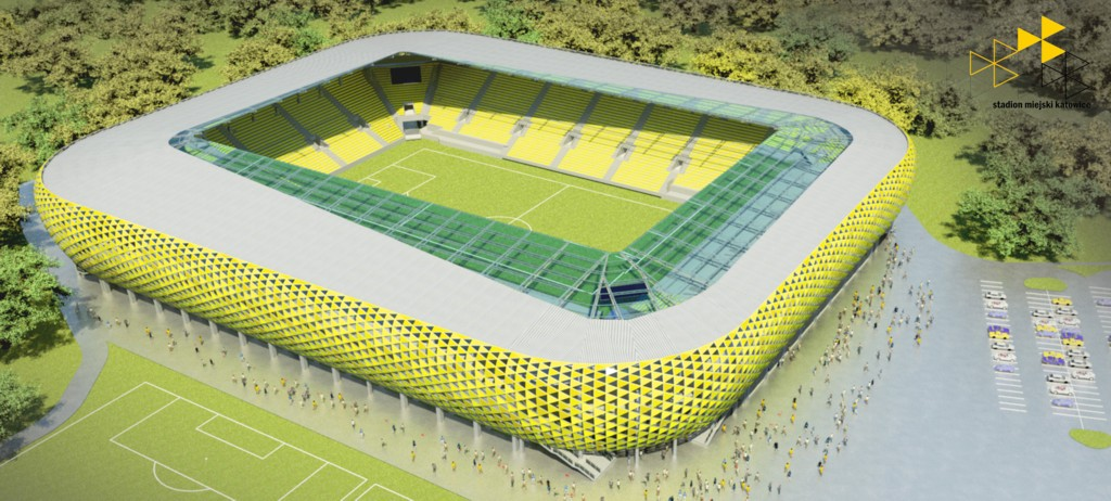 © City Hall of Katowice; second architectural concept of the new GKS Katowice stadium