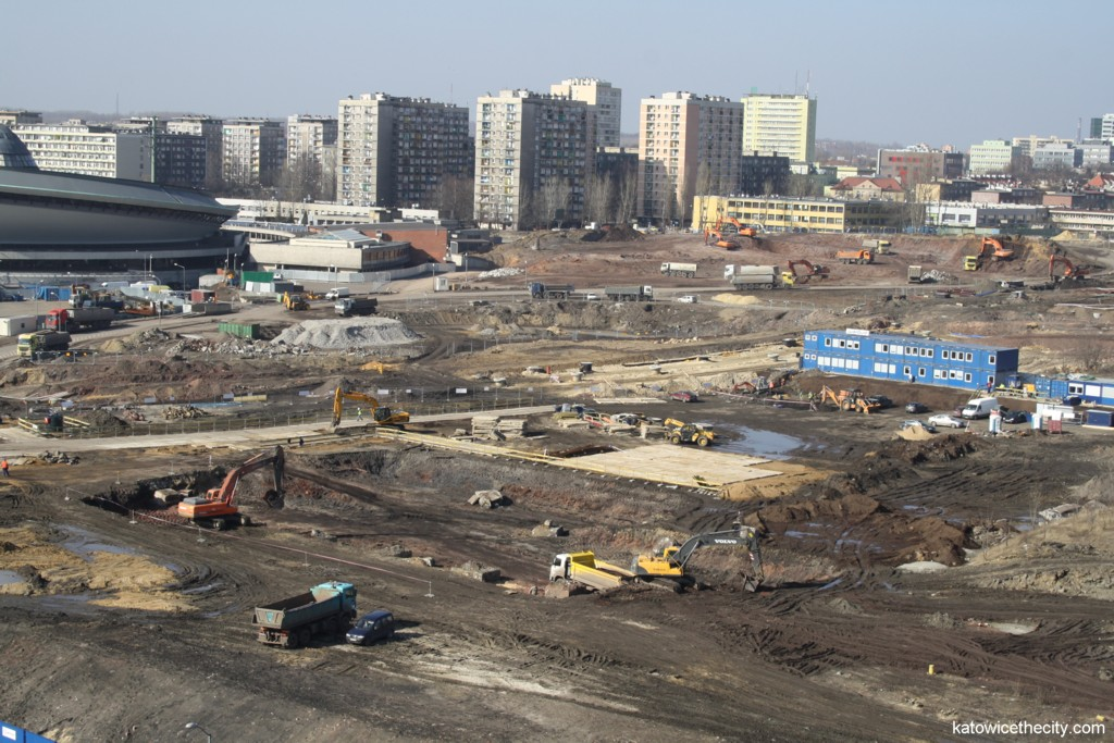 Works on the National Polish Radio Symphony Orchestra's new seat, view from south-east